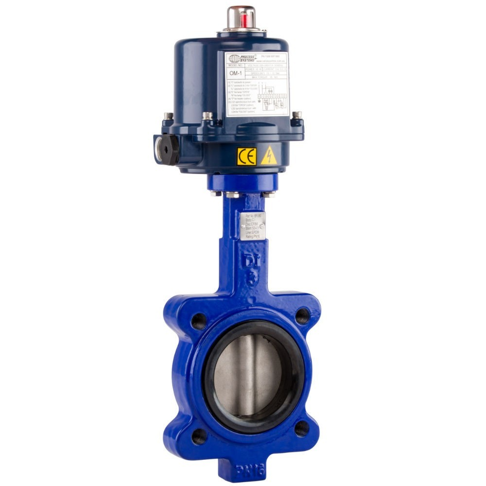 Cast Iron Lugged Butterfly Valve Electric Operation