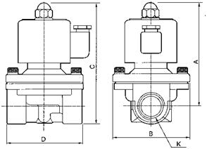 Zero Differential Normally Closed Solenoid Valve