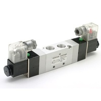 5 Way 3 position double solenoid valve closed centers