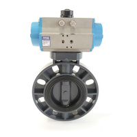 UPVC Spring Return Pneumatic Wafer Butterfly Valve