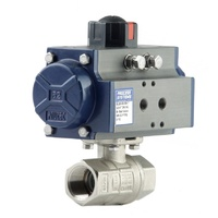 Double Acting Nickel Plated Brass Ball Valve
