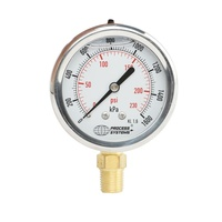 100mm Stainless Steel Liquid Filled Bottom Entry Pressure Gauge