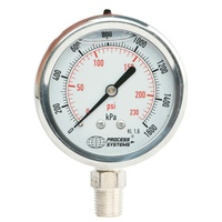 100mm Full Stainless Steel Liquid Filled Bottom Entry Pressure Gauge