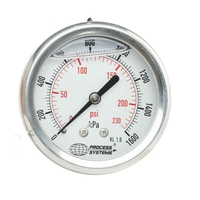 100mm Full Stainless Steel Liquid Filled Rear Entry Pressure Gauge