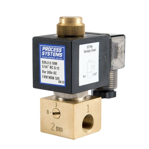 Brass Direct Acting Normally Closed Solenoid Valve